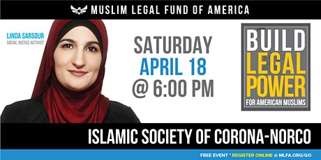 Build Legal Power for American Muslims with Linda Sarsour - Corona, CA tickets
