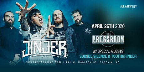 JINJER with special guests SUICIDE SILENCE, TOOTHGRINDER @ The Pressroom tickets