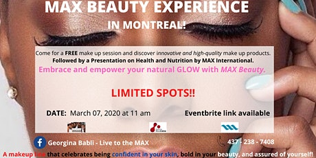 MAX Beauty Experience in MONTREAL tickets