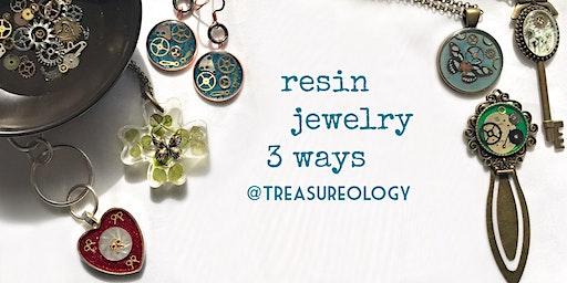Resin Jewelry 3 Ways