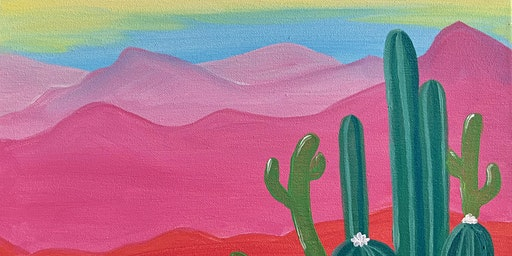 Desert Sunrise Paint and Sip