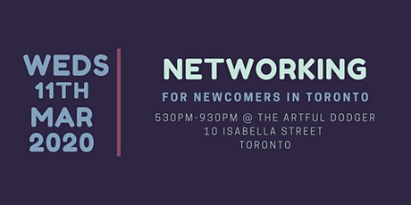 Networking for Newcomers to Toronto tickets