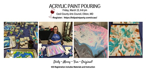 Acrylic Paint Pouting - BYOB Painting