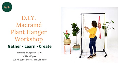 DIY Macramé Plant Hanger Workshop