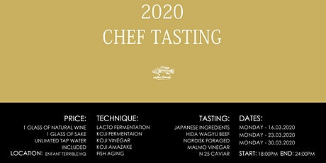Chefs only tasting 2020 tickets