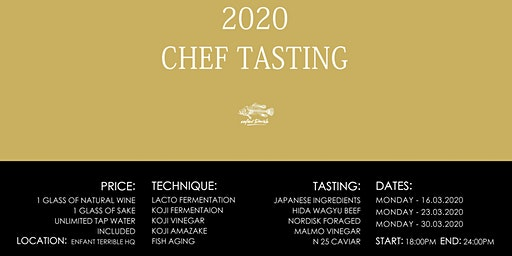 Chefs only tasting 2020