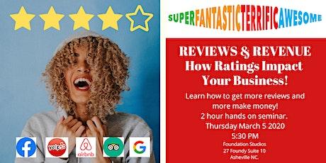 Reviews & Revenue Hands on Seminar tickets