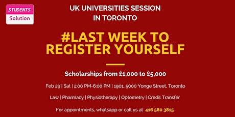 UK Universities Session in Toronto tickets