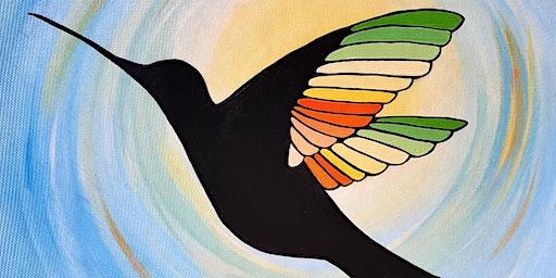 Jenn's Art Jam! ~ Colorful Hummingbird