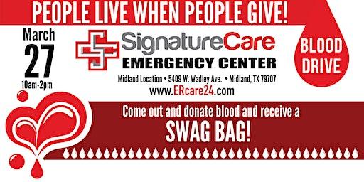 SignatureCare ER Blood Drive