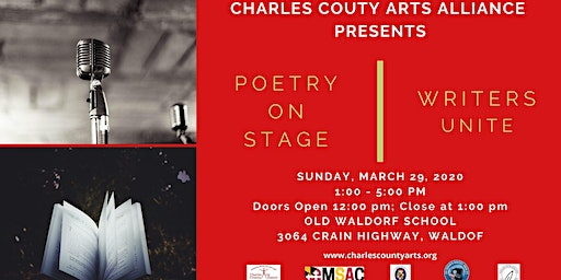 Charles County Arts Alliance Poetry On Stage and Writers Unite!