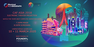 Computer Animation Festival Asia 2018 Electronic Theater Projection