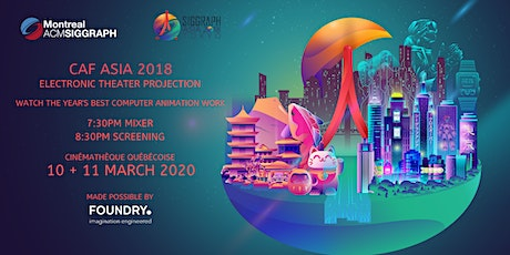 Computer Animation Festival Asia 2018 Electronic Theater Projection billets