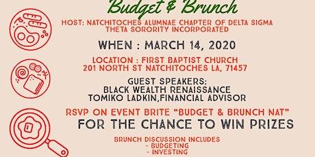 Budget & Brunch Nat tickets