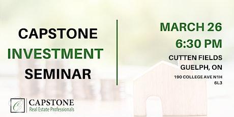 Capstone Investment Seminar tickets