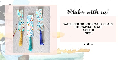 Watercolor bookmark and tassel making class tickets