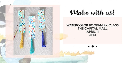 Watercolor bookmark and tassel making class