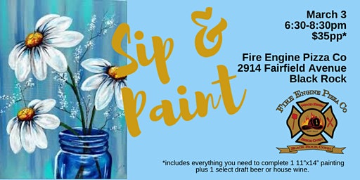 Fire Engine Pizza Co Sip and Paint Night!
