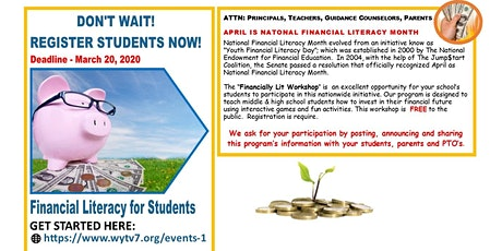 Financially Lit! Student Financial Literacy Workshop tickets
