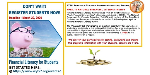 Financially Lit! Student Financial Literacy Workshop