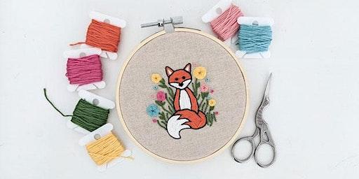 Modern Embroidery Fox Workshop