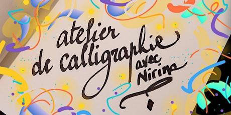 Atelier de calligraphie billets