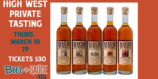 High West Private Tasting