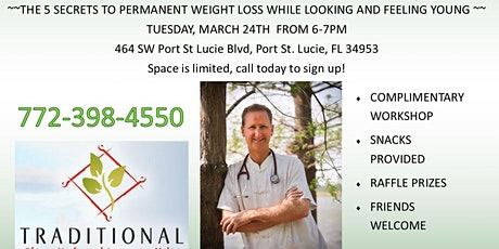 5 Secrets to Permanent Weight Loss  tickets