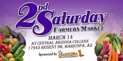 2nd Saturday Farmers Market, Vendor Registration for March 14, 2020