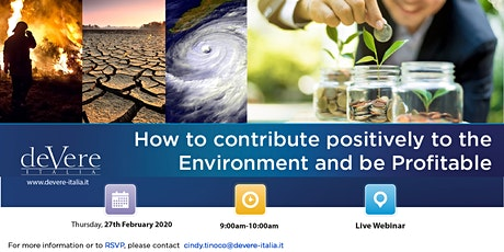 LIVE WEBINAR: How to contribute positively to Environment and be Profitable tickets