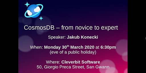CosmosDB - From Novice to Expert