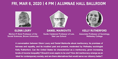 Meritocracy and Its Discontents, Glenn Loury and Daniel Markovits in Conversation tickets