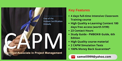CAPM Certification Training in Del Rio, TX