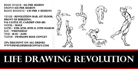 Life Drawing Revolution £12 pounds per session 4th 11th 18th 25th March 2020  tickets