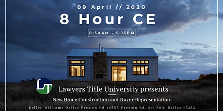 New Home Construction and Buyers Representation CE tickets