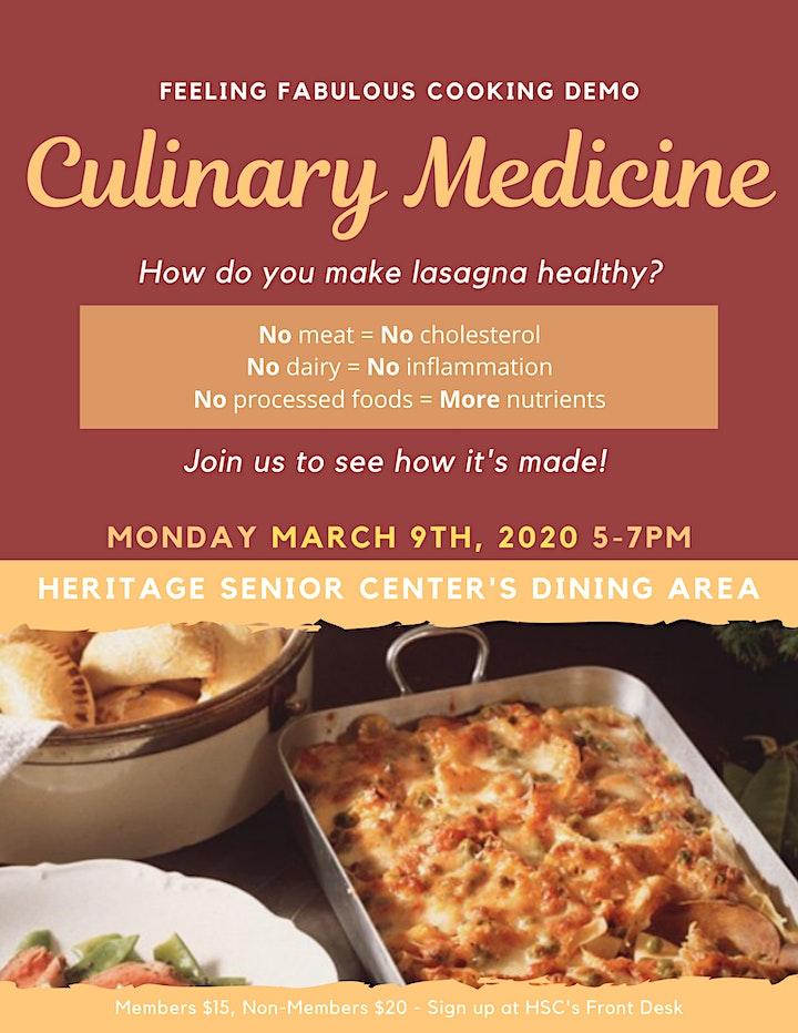 Culinary Medicine at Heritage Senior Center image