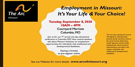 Employment in Missouri:  It's Your Life and Your Choice Conference tickets
