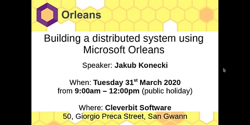 Building a Distributed System using Microsoft Orleans