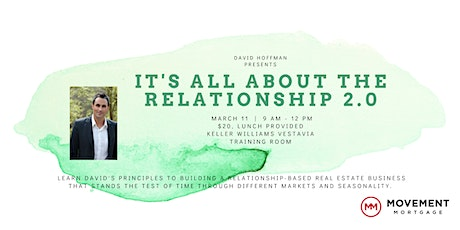 """David Hoffman - """"It's All About the Relationships 2.0"""" tickets"""