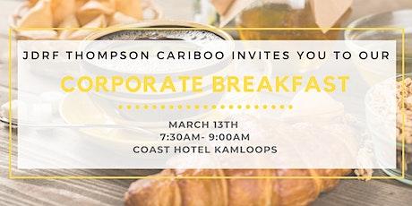 JDRF Thompson Cariboo Corporate Breakfast tickets