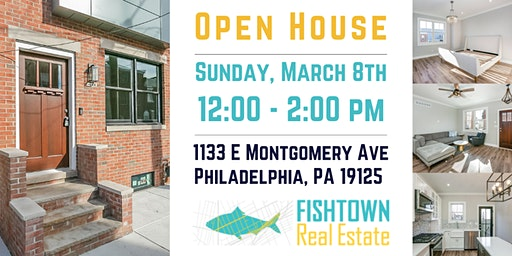 Open House at 1133 E Montgomery Ave. Philadelphia, PA 19125