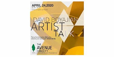 David Boyajian Artist Talk tickets