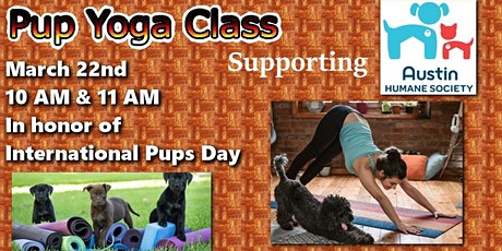Pup Yoga Class Supporting Austin Humane Society tickets