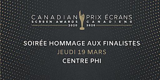 Soirée Hommage aux finalistes