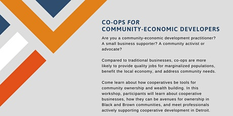 Co-ops for Community-Economic Developers tickets