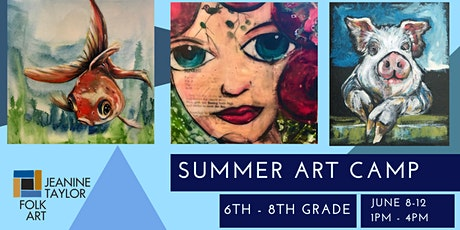 Summer Art Camp - 6th-8th Grade tickets