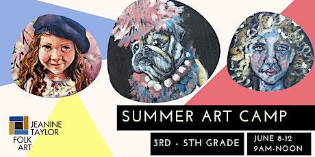 Summer Art Camp - 3rd-5th Grade tickets