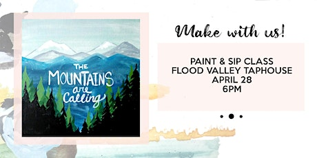Canceled -Acrylic painting class at Flood Valley Taphouse tickets