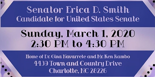Fundraiser and Reception in Support of Senator Erica D. Smith