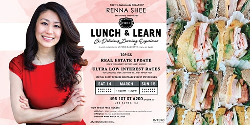 [FREE] LUNCH & LEARN: Real Estate Market Update presented by RENNA SHEE